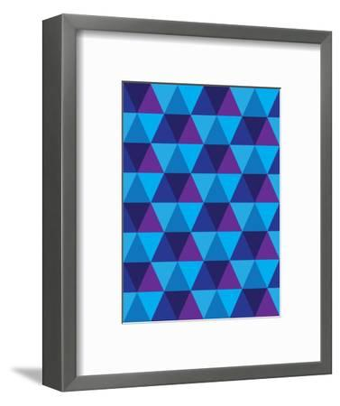 Seamless Of Triangle And Diamond Geometric Shapes-smarnad-Framed Art Print