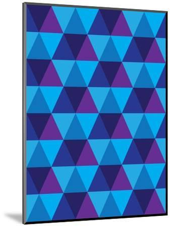 Seamless Of Triangle And Diamond Geometric Shapes-smarnad-Mounted Art Print