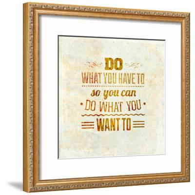 Quote Typographical Design-Ozerina Anna-Framed Art Print