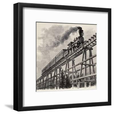 Old Illustration Of Train Crossing Wooden Trestle Bridge Along Union  Pacific Railroad Art Print by marzolino | Art com