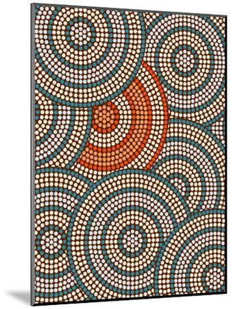 A Illustration Based On Aboriginal Style Of Dot Painting Depicting Circle Background-deboracilli-Mounted Art Print