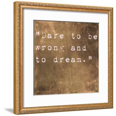 Inspirational Quote By Friedrich Von Schiller On Earthy Brown Background-nagib-Framed Premium Giclee Print