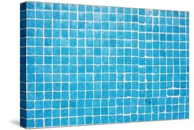 Tile Texture Background Of Bathroom Or Swimming Pool Tiles On Wall-rjmiguel-Stretched Canvas Print
