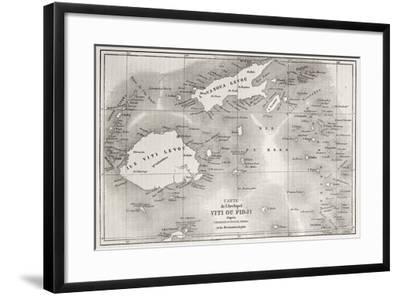 Old Map Of Fiji Islands-marzolino-Framed Art Print