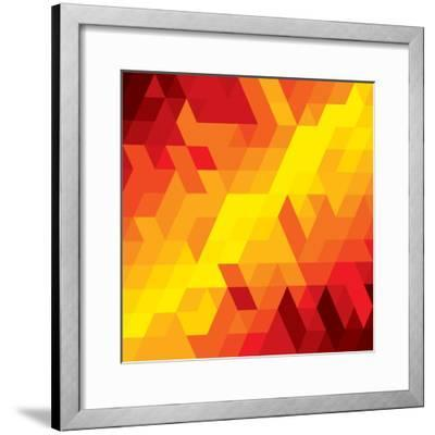 Abstract Colorful Of Diamond, Cube And Square Shapes-smarnad-Framed Premium Giclee Print