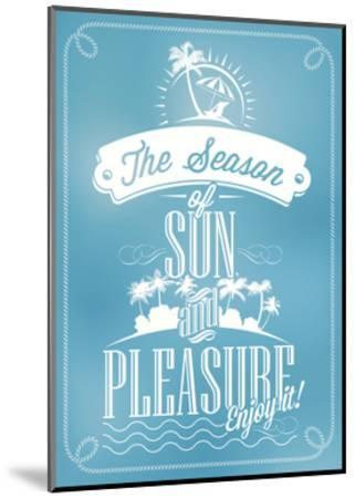 Beautiful Seaside View Poster. With Typography-Melindula-Mounted Art Print