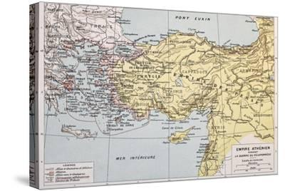 Athenian Empire Old Map-marzolino-Stretched Canvas Print