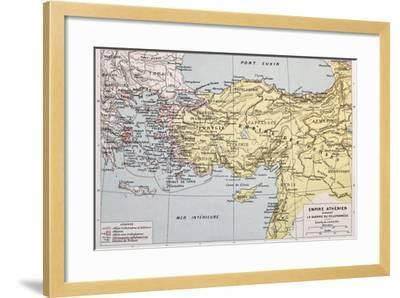 Athenian Empire Old Map-marzolino-Framed Art Print