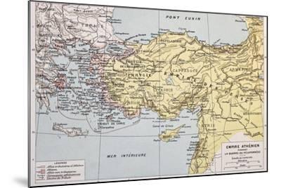 Athenian Empire Old Map-marzolino-Mounted Art Print