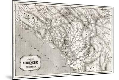 Old Map Of Montenegro. Created By Lejean, Published On Le Tour Du Monde, Paris, 1860-marzolino-Mounted Art Print