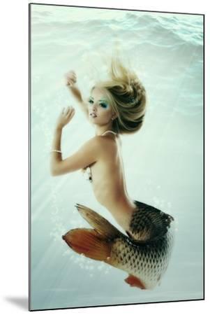 Mermaid Beautiful Magic Underwater Mythology Being Original Photo Compilation-khorzhevska-Mounted Art Print