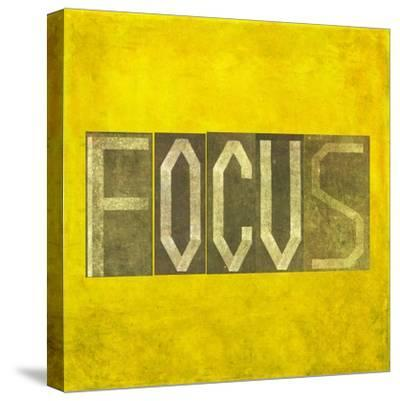 """Earthy Background Image And Design Element Depicting The Word """"Focus""""-nagib-Stretched Canvas Print"""
