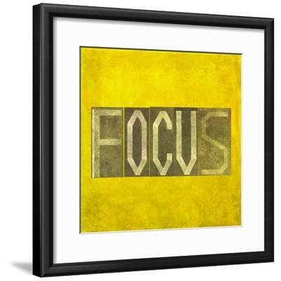 """Earthy Background Image And Design Element Depicting The Word """"Focus""""-nagib-Framed Premium Giclee Print"""