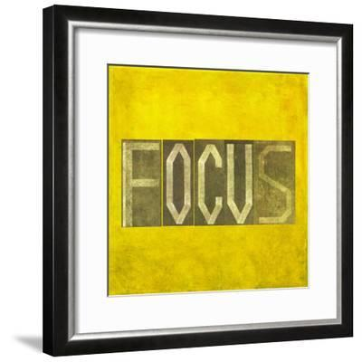 "Earthy Background Image And Design Element Depicting The Word ""Focus""-nagib-Framed Premium Giclee Print"