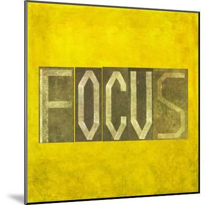"""Earthy Background Image And Design Element Depicting The Word """"Focus""""-nagib-Mounted Art Print"""