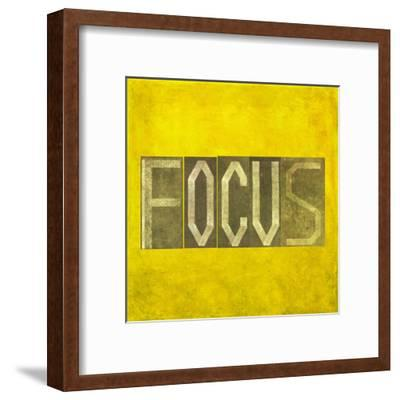 """Earthy Background Image And Design Element Depicting The Word """"Focus""""-nagib-Framed Art Print"""