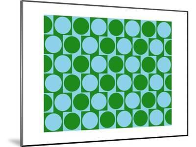 Optical Illusion Cafe Wall Effect Circles Light Blue Green-Luis Stortini Sabor aka CVADRAT-Mounted Art Print