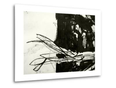 A Messy Grunge Background Hand Made With Black Indian Ink-lavitrei-Metal Print