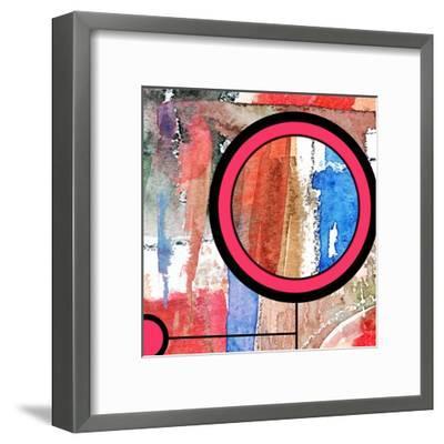Abstract Art Collage, Mixed Media And Watercolor On Paper-Andriy Zholudyev-Framed Art Print