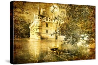 Romantic Castle - Artistic Toned Picture In Retro Style-Maugli-l-Stretched Canvas Print