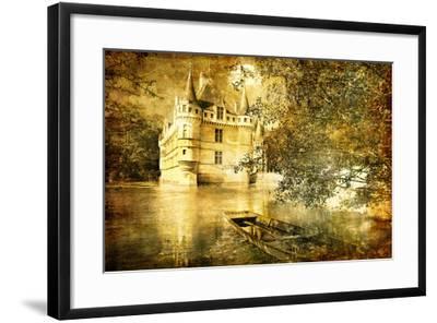 Romantic Castle - Artistic Toned Picture In Retro Style-Maugli-l-Framed Art Print
