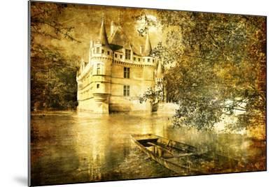 Romantic Castle - Artistic Toned Picture In Retro Style-Maugli-l-Mounted Art Print