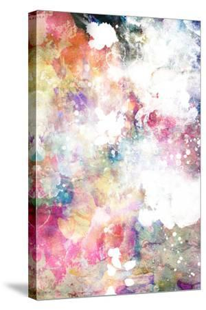 Abstract Grunge Texture With Watercolor Paint Splatter-run4it-Stretched Canvas Print