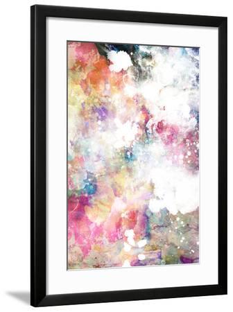 Abstract Grunge Texture With Watercolor Paint Splatter-run4it-Framed Art Print