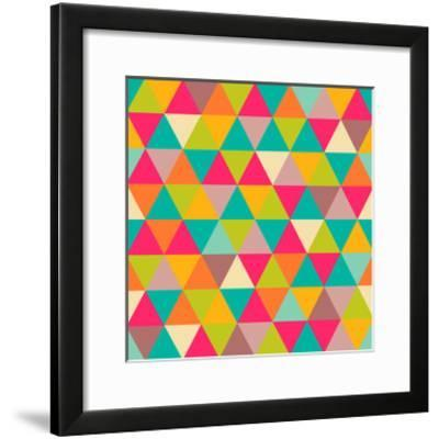 Abstract Geometric Triangle Seamless Pattern-Heizel-Framed Art Print