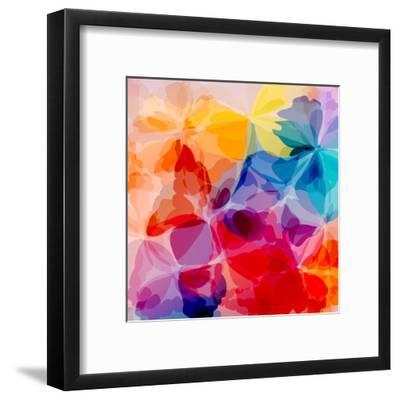 Multicolored Background Watercolor Painting-epic44-Framed Art Print