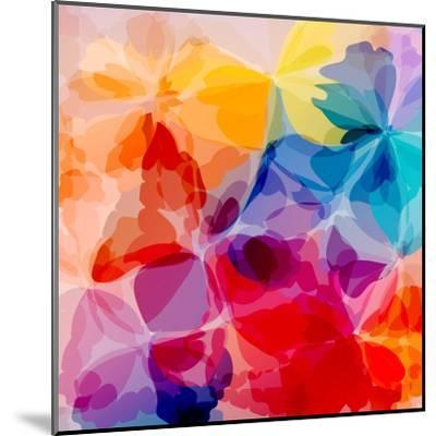 Multicolored Background Watercolor Painting-epic44-Mounted Art Print