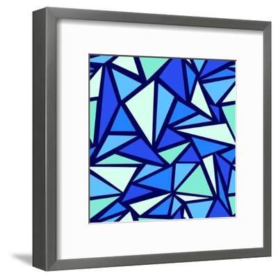 Abstract Ice Chrystals Seamless Pattern Background-Oksancia-Framed Art Print