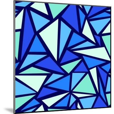 Abstract Ice Chrystals Seamless Pattern Background-Oksancia-Mounted Art Print