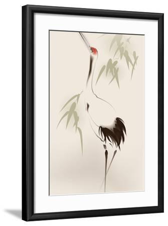 Oriental Style Painting, Red-Crowned Crane-ori-artiste-Framed Art Print