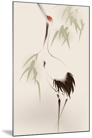 Oriental Style Painting, Red-Crowned Crane-ori-artiste-Mounted Art Print