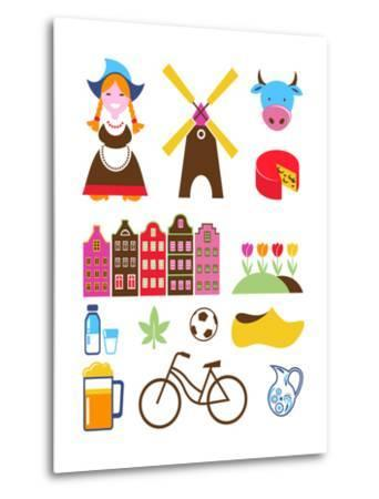 Collection Of Netherlands Icons-Marish-Metal Print