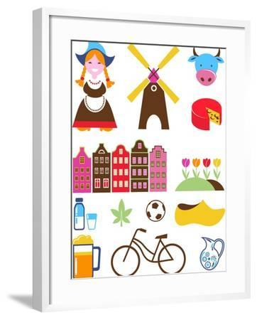 Collection Of Netherlands Icons-Marish-Framed Art Print