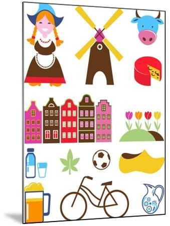 Collection Of Netherlands Icons-Marish-Mounted Art Print