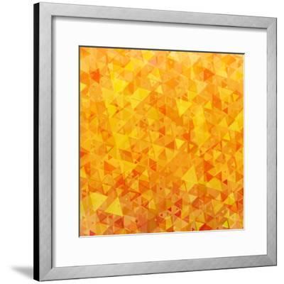 Bright Orange Scattered Triangles Background-Enka Parmur-Framed Premium Giclee Print