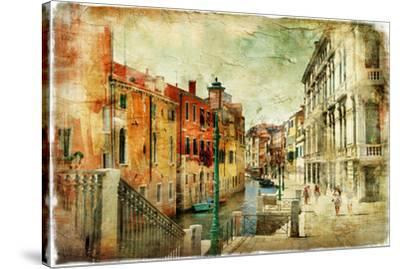 Romantic Venice - Artwork In Painting Style-Maugli-l-Stretched Canvas Print