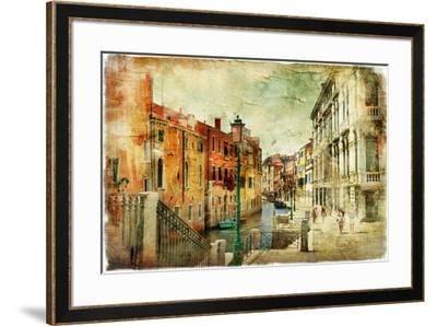Romantic Venice - Artwork In Painting Style-Maugli-l-Framed Premium Giclee Print