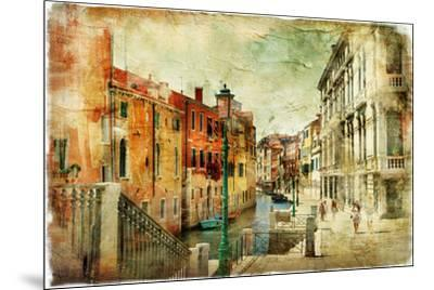 Romantic Venice - Artwork In Painting Style-Maugli-l-Mounted Premium Giclee Print