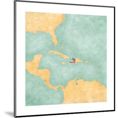 Map Of Caribbean - Haiti (Vintage Series)-Tindo-Mounted Art Print