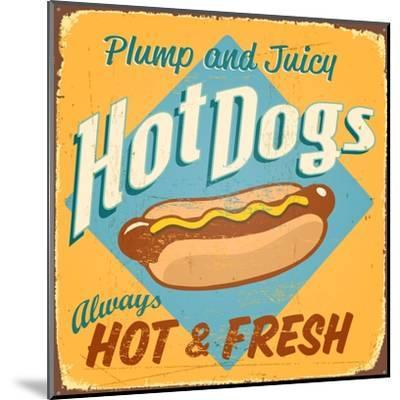 Vintage Design -  Hot Dogs-Real Callahan-Mounted Art Print