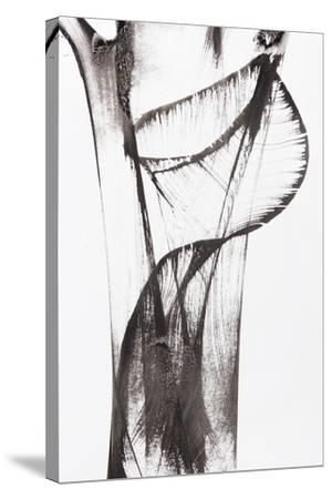 Black And White Abstract Brush Painting-shooarts-Stretched Canvas Print