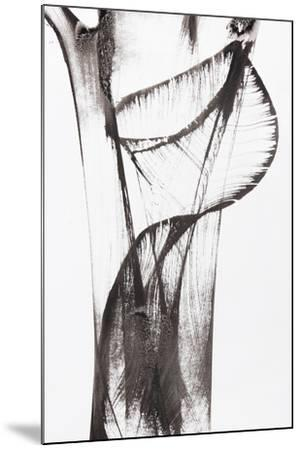 Black And White Abstract Brush Painting-shooarts-Mounted Art Print