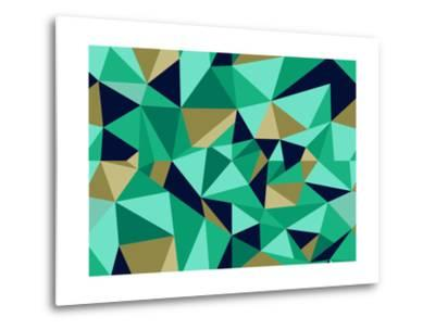 Trendy Abstract Geometric Pattern-cienpies-Metal Print
