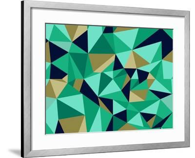 Trendy Abstract Geometric Pattern-cienpies-Framed Art Print
