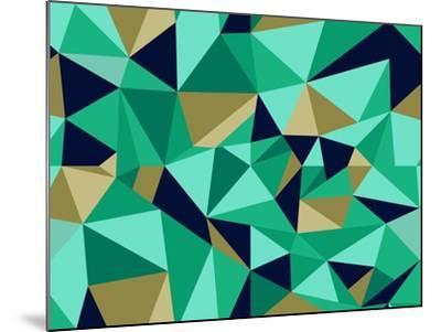 Trendy Abstract Geometric Pattern-cienpies-Mounted Art Print