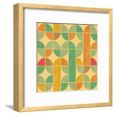 Retro Abstract Seamless Pattern With Seamless Texture-Heizel-Framed Art Print